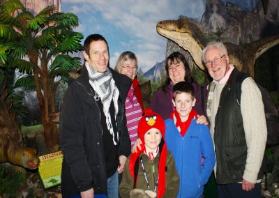 A Family Of Dinosaur Explorers