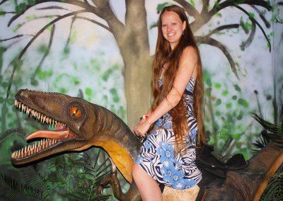Paleontologist sits on a Dinosaur!
