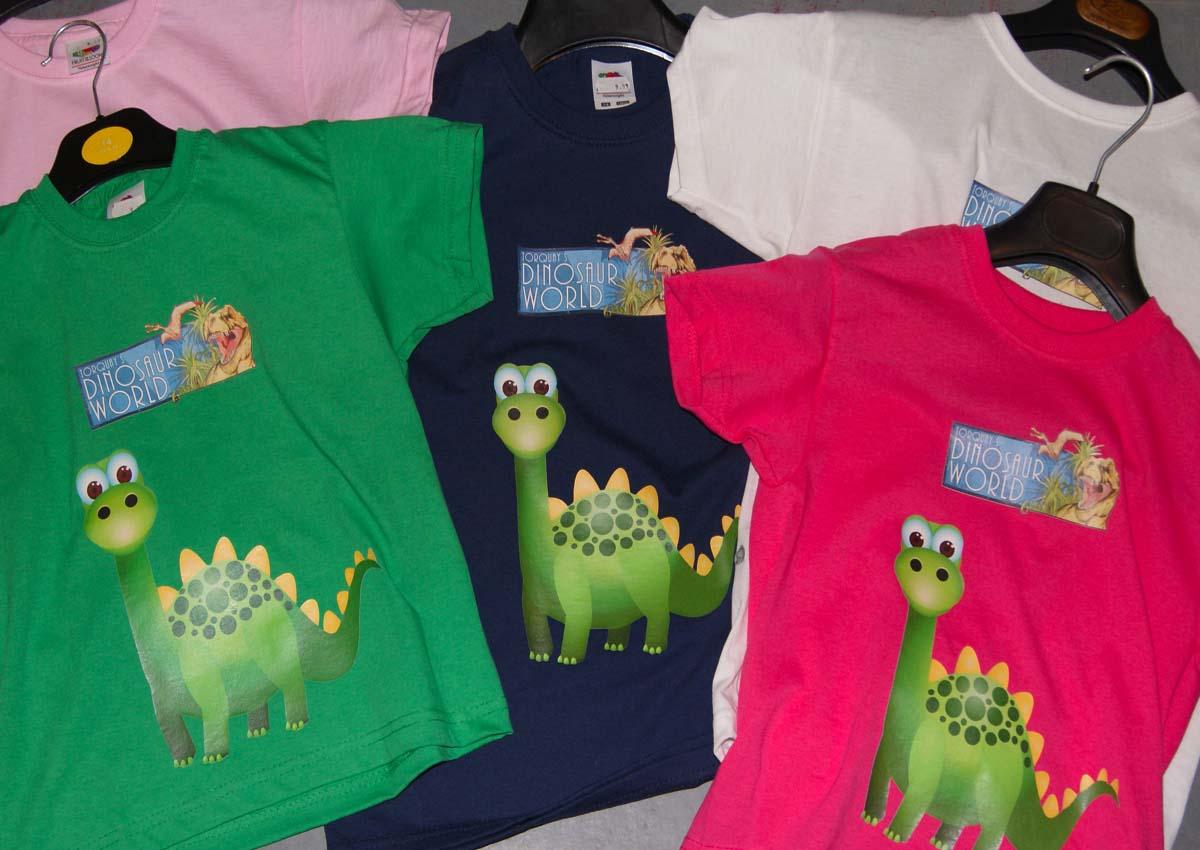 Pick up a dinosaur t-shirt!