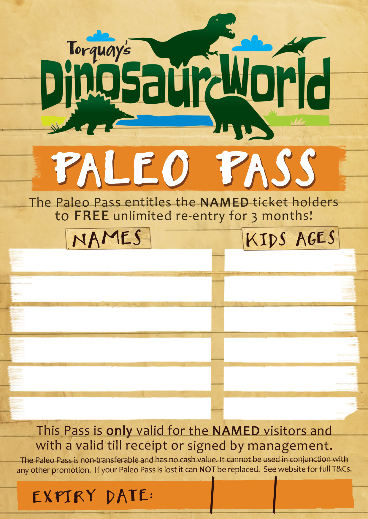 Paleo Pass - Free Re-Entry