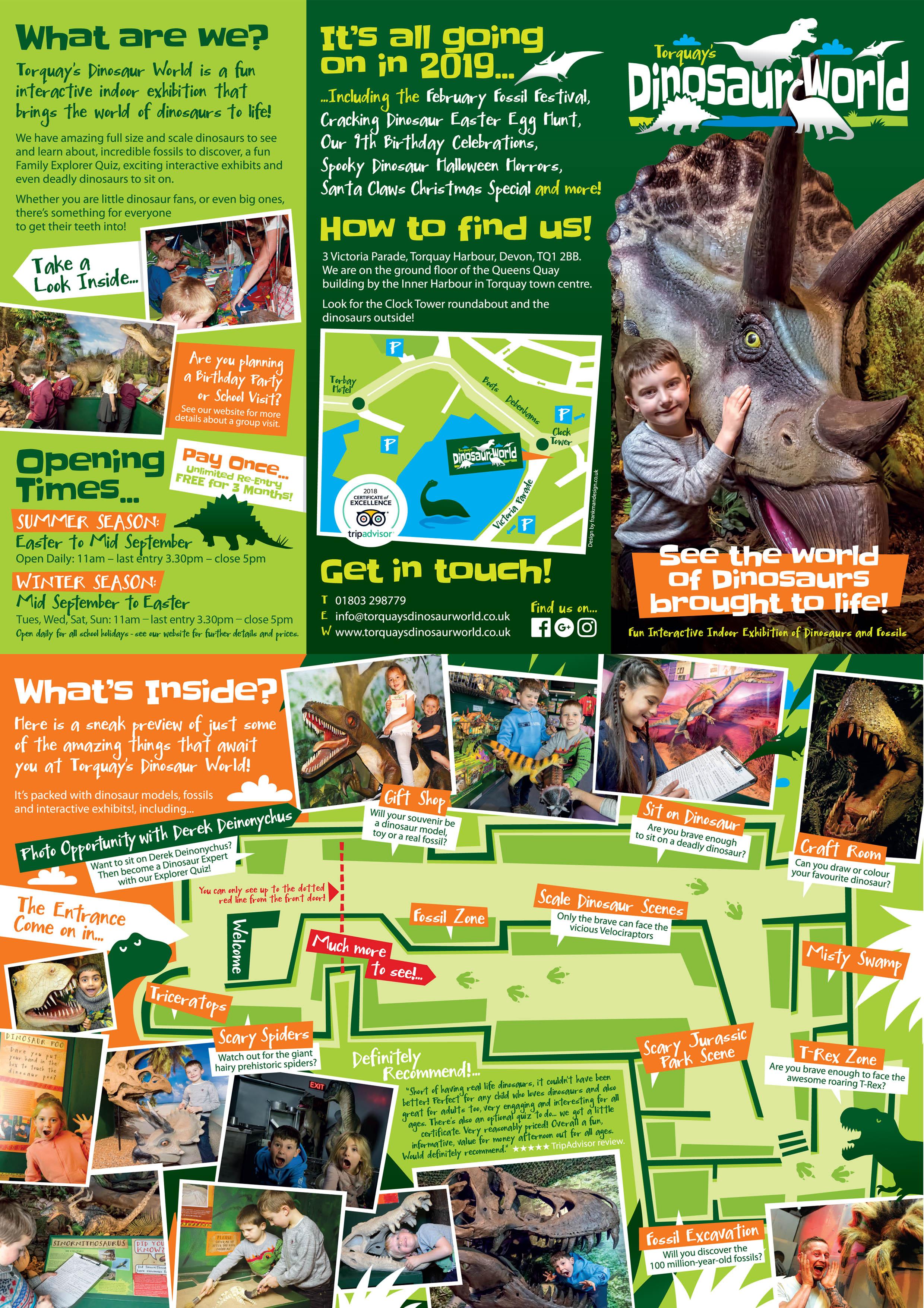 Torquay's Dinosaur World Leaflet