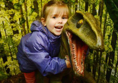 I love cuddling dinosaurs!