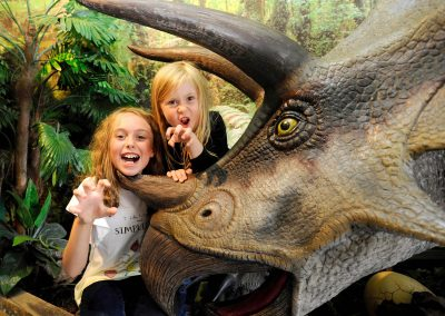 Get up close and personal with the dinosaurs!